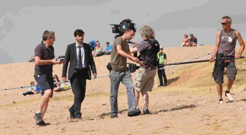 STAR-STUDDED CAST: David Tennant filming Broadchurch at West Bay