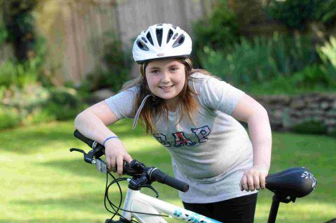 ON HER BIKE: Cycle safety campaigner Maisy Attrill has been invited to No 10 after contacting deputy prime minster Nick Clegg