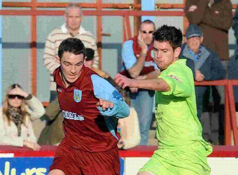 Dorset Echo: BACK IN ACTION: Ashley Wells, left, will make his first competitive outing for the Terras since breaking an ankle