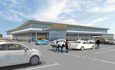 JOBS IN STORE: An artist's impression of the new Sainsbury's at Weymouth Gateway site
