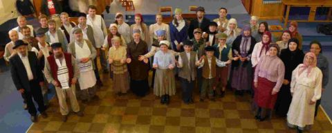 KEEP US SINGING: The cast of Weymouth Operatic Society's production of Fiddler on the Roof