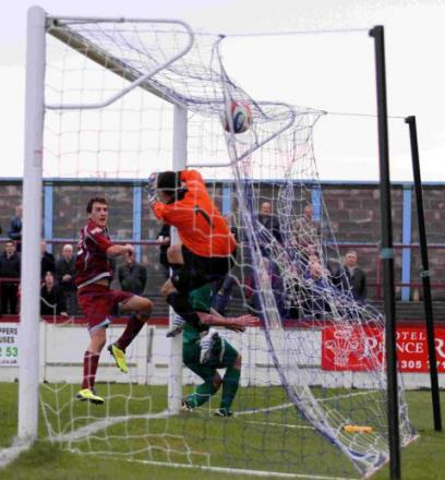 HAT-TRICK: Mark Ford strikes to seal his treble on Saturday