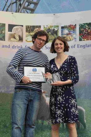 WINNING WAYS: Helen Rollinson with Taste of the West judge and TV presenter Tim Maddams