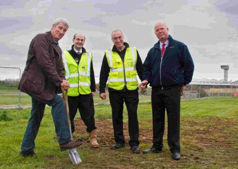 ACE OF SPADES: Jeremy Paxman with Museum Director Richard Smith, facilities manager Roy Hicks and Dawnus Construction project manager Stewart Spearman
