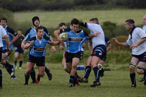 ON THE ROAD: Gary Hamlin in action during last weekend's 76-0 thrashing of Supermarine
