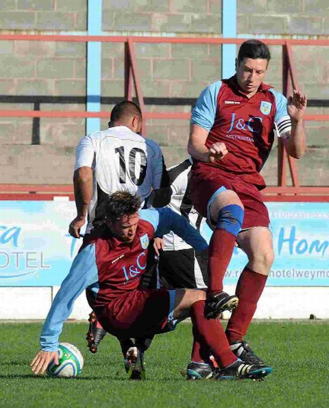 DYNAMIC DUO: Ben Doidge and Adam Anstey will be in action for the Terras tomorrow at Swanage