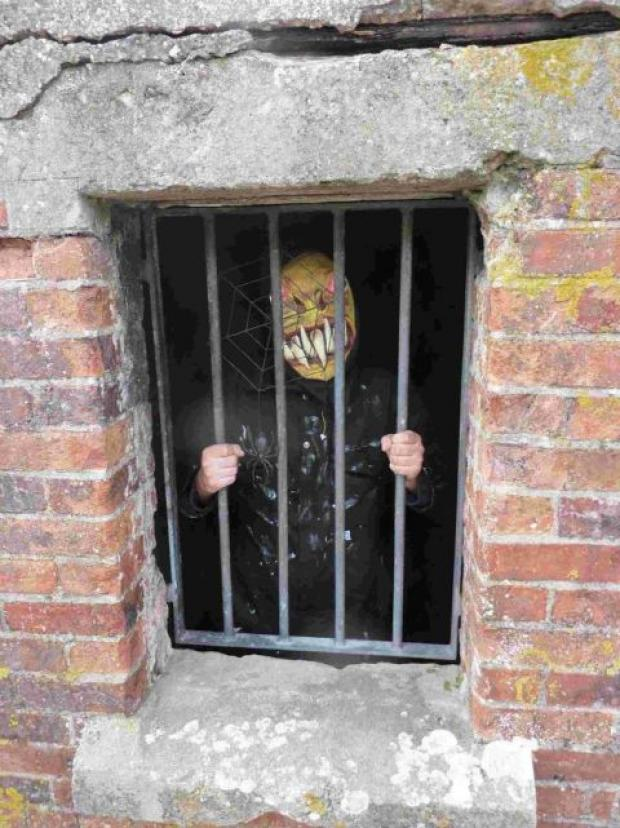 LOCKED UP: A reveller in spooky fancy dress at last year's event