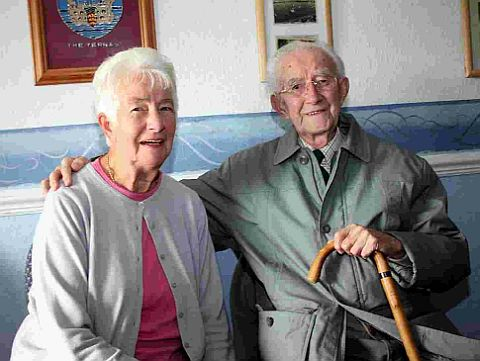 CLUB STALWARTS: Jean Lucas with Ron Willsher