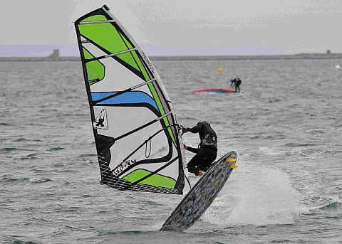 STYLISH MOVE: A windsurfer taking part in a freestyle manoeuvre