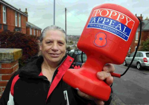 COME AND JOIN US: Naomi Turner of the Royal British Legion is looking for more volunteers