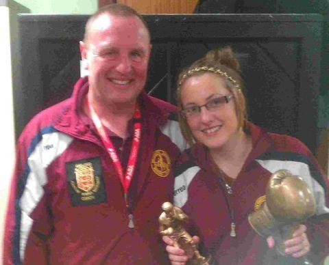 BEST BOXER: Chloe Le Page with father Paddy