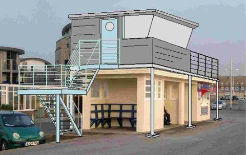 GREEN LIGHT: The proposed NCI look-out in West Bay above the ice cream kiosk and, below, NCI Lyme Bay station manager Clive Edward