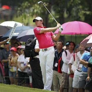 Rory McIlroy is at level par after eight holes (AP)