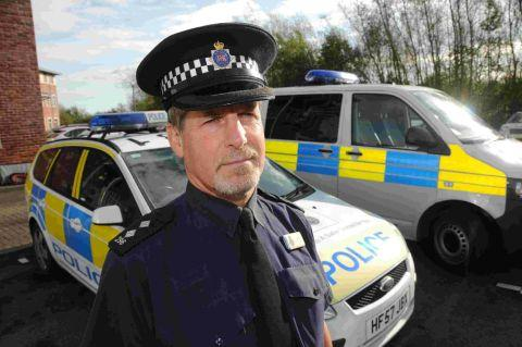 IN CHARGE: Inspector Les Fry at Weymouth Police Station
