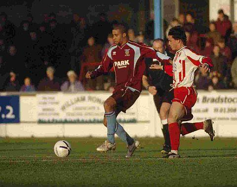 NEW RECRUIT? Ex-Weymouth forward Richard Logan could be on his way to the Magpies