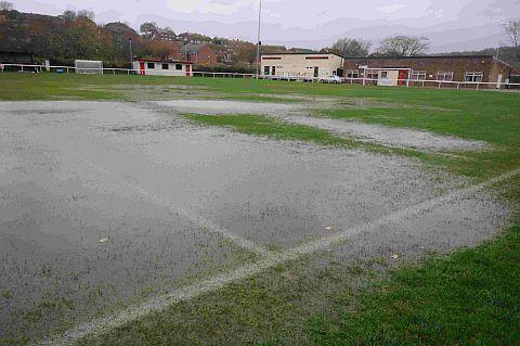 WATERLOGGED: St Mary's Field on Thursday