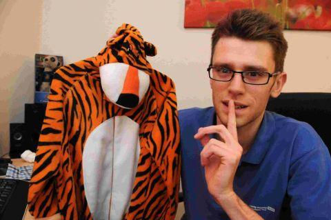 SHHH: Jon Fox, who is going to dress as a tiger for a sponsored