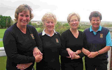 FULL POWER: The Weymouth Ladies from left: Sally Davis, Megan Lewis, Julie Hacket and Laura Dodington