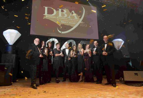 WHAT A NIGHT: 2012 Dorset Business Award winners celebrate at the Lighthouse in Poole