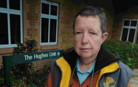 Ros Copson outside the Hughes Unit