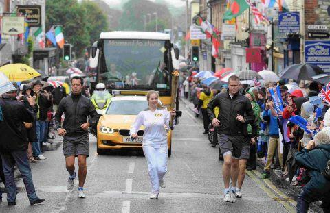 SPECIAL MOMENT: The Olympic torch relay in Dorchester