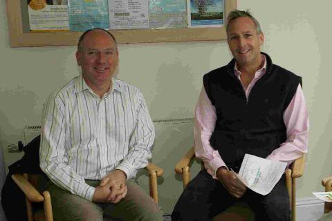 GOOD YEAR: President of the First Dorset Credit Union Richard Thorley with South Dorset MP Richard Drax