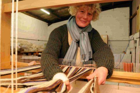 ENTREPRENEUR: Andrea Cunningham started a weaving business using her mum's kit following redundancy