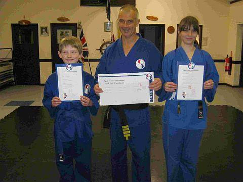 EARNING THEIR BELTS: Jack Beard, Steve Reynolds and Katie Reynolds