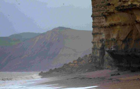 Burton Bradstock beach is closed after a further landslip