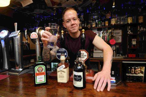 DRYATHLETE: Weymouth barman James Perry has given up alcohol for January in a bid to raise money for charity
