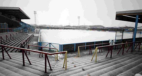 SNOW PATROL: The Terras will be hoping the snow clears for today's game with Frome