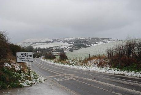 HAZARDOUS: Student Frederick Lloyd's picture of the road into West Lulworth