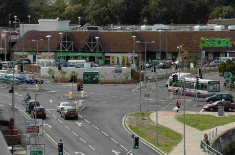 CONTROVERSIAL: The harbour crossroads outside Asda in Weymouth