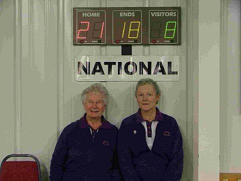 WINNING COMBINATION: Ros Gwatkin, left, and Annette Hallett of Dorchester Bowls Club won the Ladies' Pairs Area Final and now go on to the National Finals at Melton Mowbray in February