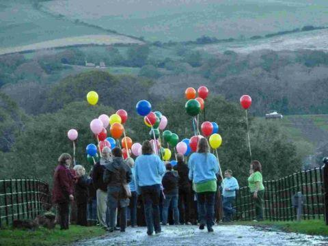 EMOTIONAL TIMES: Bereaved children and families at a Mosaic camp at Leeson House in Swanage