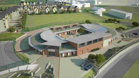 IPACA: Artist's impression of the Portland Academy at Osprey Quay