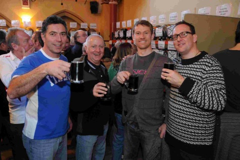 GOOD HEALTH: Matt Pye, Rich Smith, Jason Bugler and Bryan Vickery at Beerex