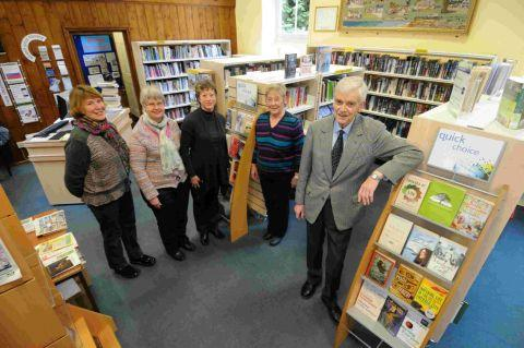 NEW CHAPTER: Burton Bradstock library is now run by volunteers Rosemary Daniels, Gillian Perkins, Diny Bending, Marion Dewey and Bob Hynds