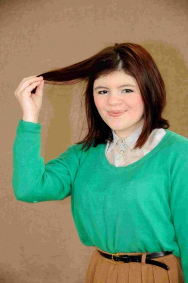 GOOD DEED: Emily Levi is having her hair shaved off in March to raise money for the Lymphoma Assocation