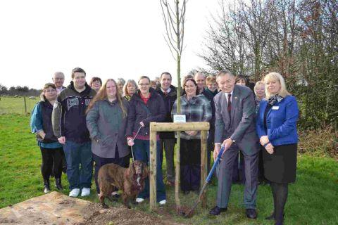 TRIBUTE: The planting of the memorial tree for Lynne King