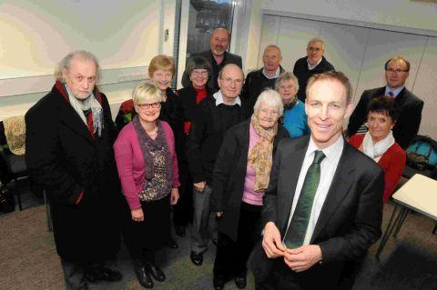 Shadow Defence Secretary Jim Murphy with residents