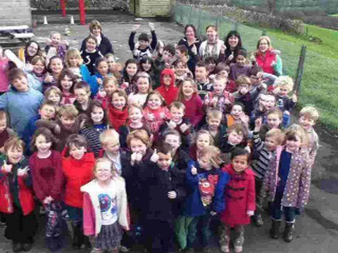 Marshwood School pupils celebrate the Ofsted report