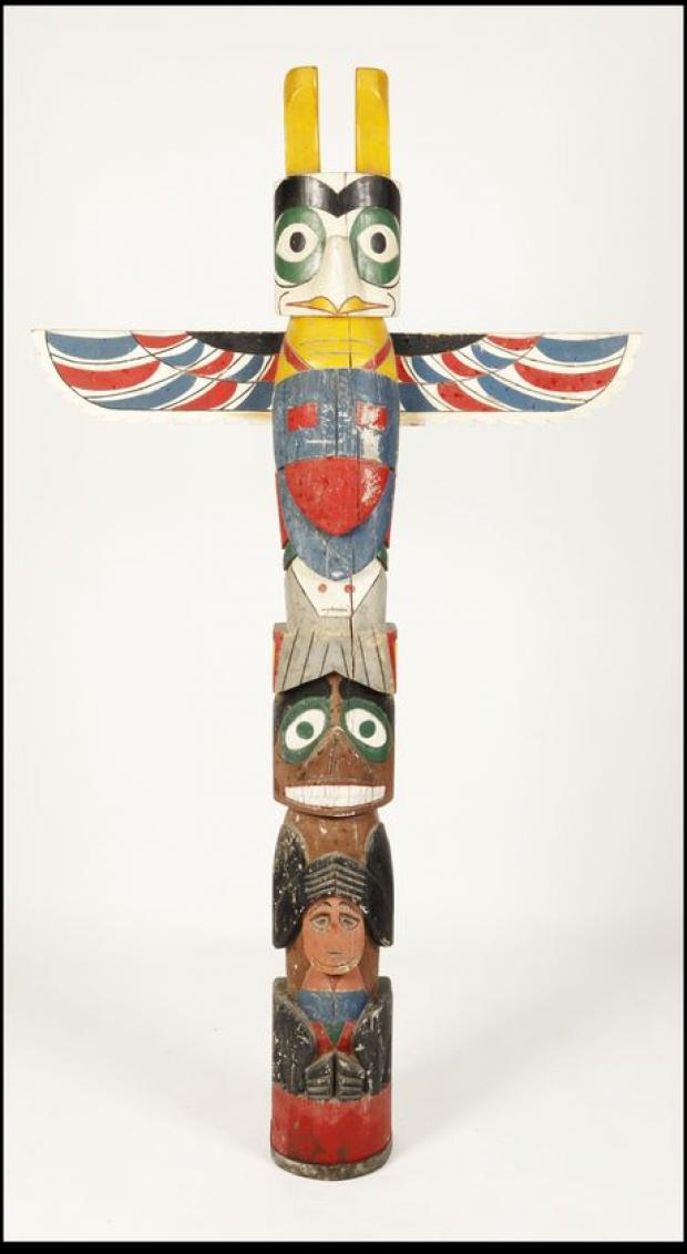 TOTEM: pole stands 6ft 7in (picture: BNPS)