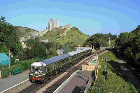 HERITAGE: 1960s rail bus at Corfe Castle Picture: Andrew PM Wright