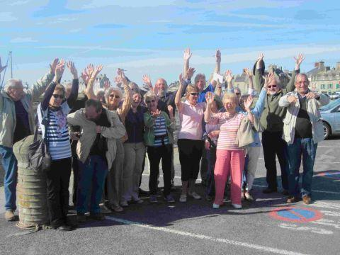 ENTENTE CORDIALE: Association members during the twinning visit to Barfleur
