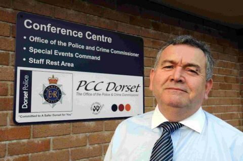 BACKING: Police and crime Commissioner Martyn Underhill