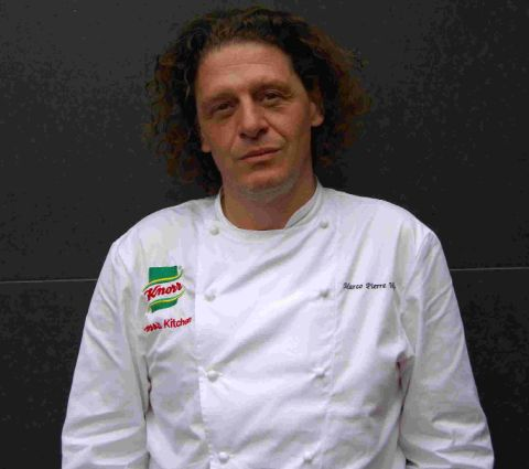 TOP TIPPER: Chef Marco Pierre White enjoyed his haddock and chips at the Marlboro in Weymouth