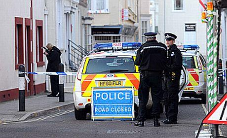 Police in East Street, Weymouth town centre