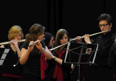 Dorset Echo: MAGIC FLUTES:  The Dorchester Area Schools Partnership Flute Choir at last year's Weymouth Music Festival
