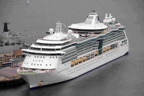 WELCOME: Royal Caribbean's Jewel of the Seas docked at Portland Port